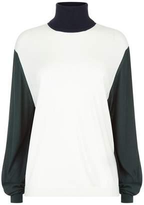 Burberry Colour-Block Turtleneck Sweater