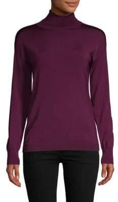 Pink Tartan Turtleneck Sweater