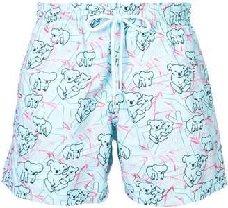 Vilebrequin Koala pattern swim shorts