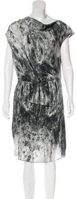 Helmut Lang Silk Draped Dress