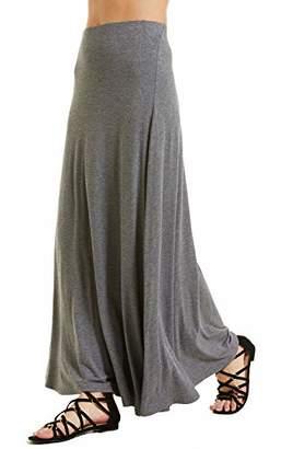 SONJA BETRO Amazon Brand Women's Knit Seam Detail Elastic Waist Long Maxi Skirt