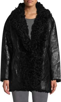 IRO Women's Gallery Shawl Collar Leather Coat