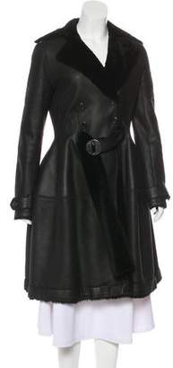 Vionnet Belted Shearling Coat w/ Tags