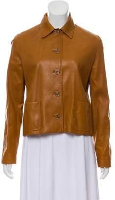Ralph Lauren Black Label Leather Collared Jacket