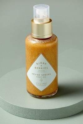 Anthropologie Bjork & Berries Shimmering Body Oil