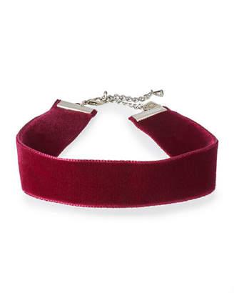 Dannijo Aria Velvet Choker Necklace