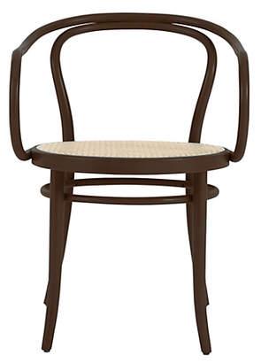 Design Within Reach Era Round Armchair with Cane Seat, Brown