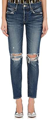 Moussy Women's Latrobe Distressed Tapered Jeans