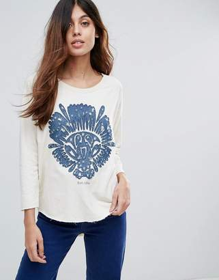Maison Scotch Print Sweat