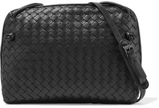 Bottega Veneta Nodini Small Intrecciato Leather Shoulder Bag - Black