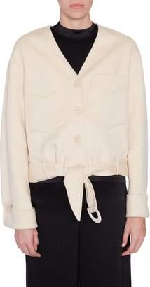 Iman Nanushka Belted Jacket