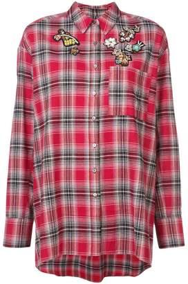 Cinq à Sept tartan oversized shirt