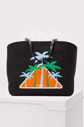 Prada Palms tote bag