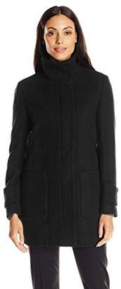 Kenneth Cole Women's Wool Coat with Front Pockets $68.08 thestylecure.com
