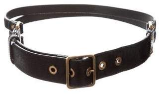 Burberry Ponyhair Waist Belt