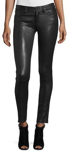 Alice + OliviaAlice + Olivia Angie 5-Pocket Leather Leggings, Black