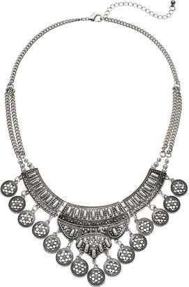 Mudd Antiqued Medallion Statement Necklace