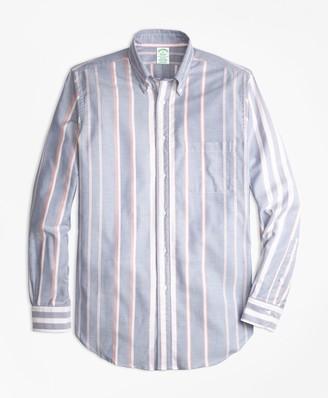 Brooks Brothers Milano Fit Oxford Bold Stripe Sport Shirt