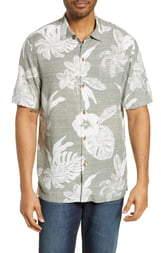 Tommy Bahama Geo Leaf Classic Fit Camp Shirt