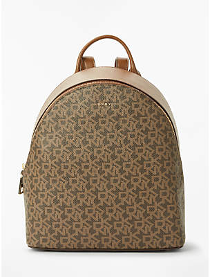 DKNY Bryant Medium Leather Backpack, Chocolate