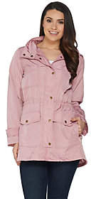 Joan Rivers Classics Collection Joan Rivers Water Resistant Anorak with Hood