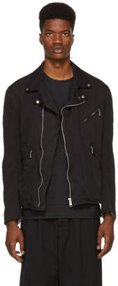 Comme des Garcons Homme Black Twill Motorcycle Jacket