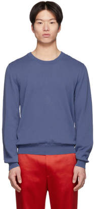 Maison Margiela Blue Knit Sweatshirt