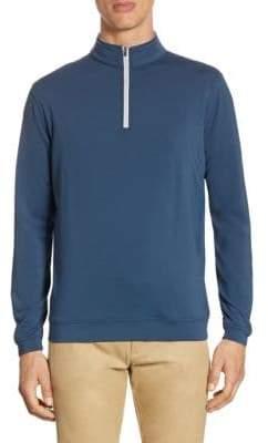Peter Millar Men's Quarter-Zip Pullover - Midnight - Size Small