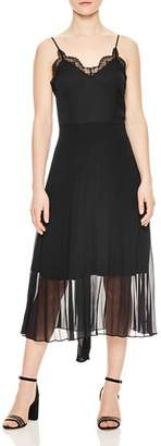 Sandro Trice Lace-Detail Midi Dress