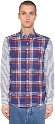 Loewe Stripes & Checks Patchwork Shirt