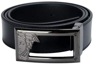 Versace Men's Leather Buckle Decorated Belt