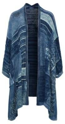 Ralph Lauren Patchwork Open-Front Cardigan Blue Multi M/L