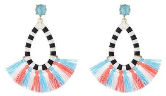 BaubleBar Sandbar Stone & Tassel Drop Earrings