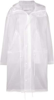 Calvin Klein Jeans Est. 1978 transparent logo raincoat