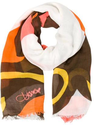 Diane von Furstenberg Printed Scarf $95 thestylecure.com