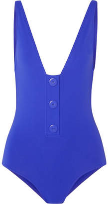1fd618e082fc2 Eres Pop Button-detailed Swimsuit - Bright blue