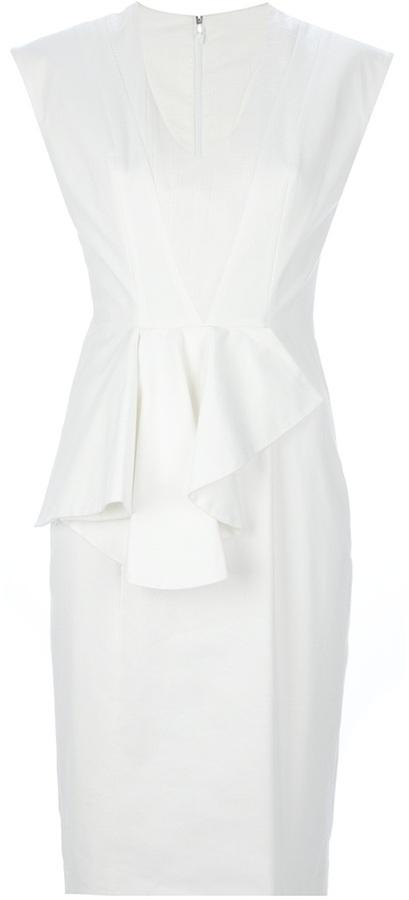 Tim Van Steenbergen sleeveless peplum dress