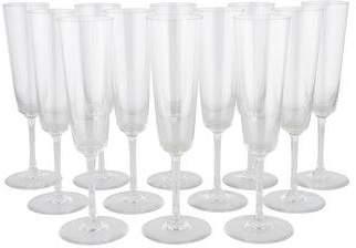 Baccarat Set of 12 Crystal Champagne Flutes