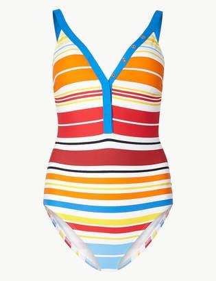 M&S Collection Secret SlimmingTM Multi-Colour Striped Swimsuit