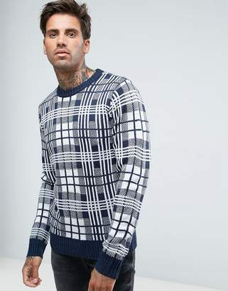 Another Influence Checked Knitted Sweater