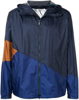 Ermenegildo Zegna colour block hooded jacket