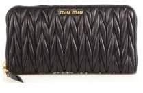 Miu Miu Matelasse Leather Zip Continental Wallet