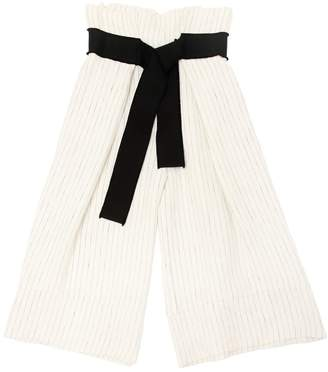 Blend of America Unlabel Pinstriped Linen Wide Leg Pants