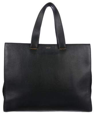 Giorgio Armani Medium Leather Shopping Tote