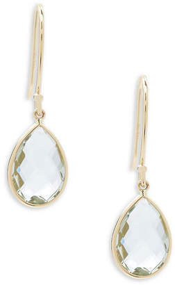 Saks Fifth Avenue Quartz And 14K Yellow Gold Earrings
