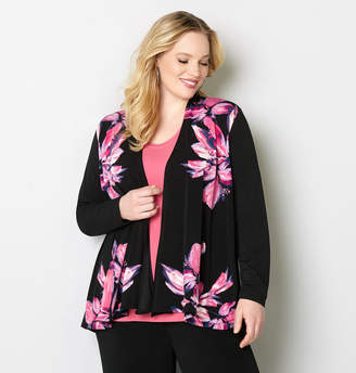 Avenue Large Floral Cardigan