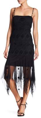 Papillon Beaded Mesh Dress