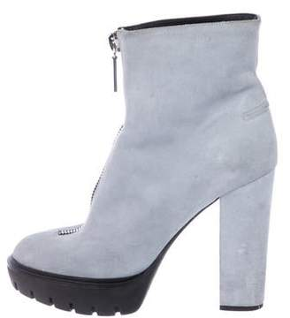 Kenzo Suede Round-Toe Ankle Boots