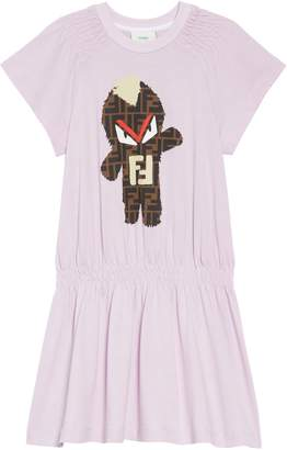 Fendi Monster Logo Graphic Dress