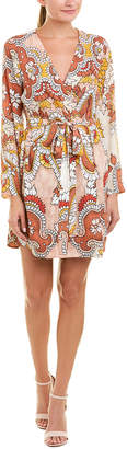 BCBGMAXAZRIA Printed Wrap Dress